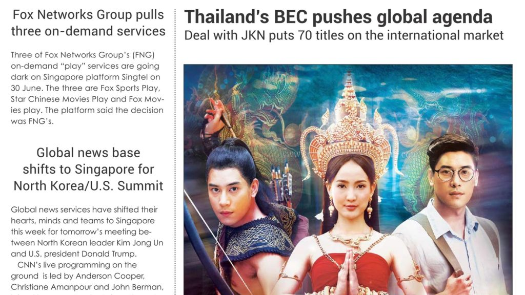 THAILAND'S BEC PUSHES GLOBAL AGENDA DEAL WITH JKN
